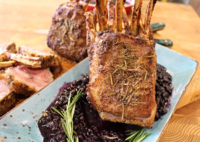 "Northumberlamb ""Rack of lamb"" with a Wild Blueberry Rosemary Sauce"